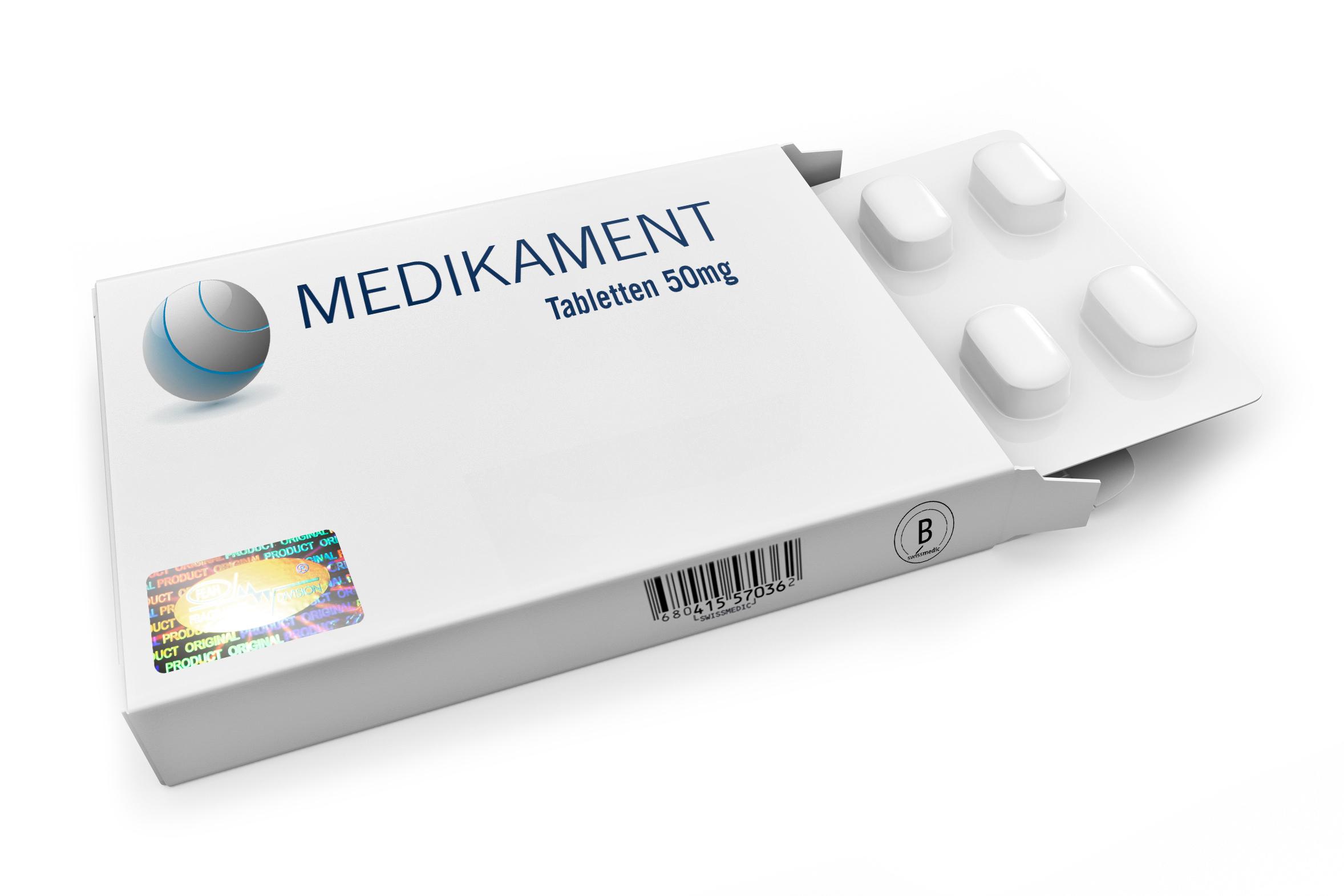 Medikamentenpackung mit Hologramm