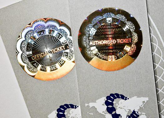 Tickets mit Hologramm