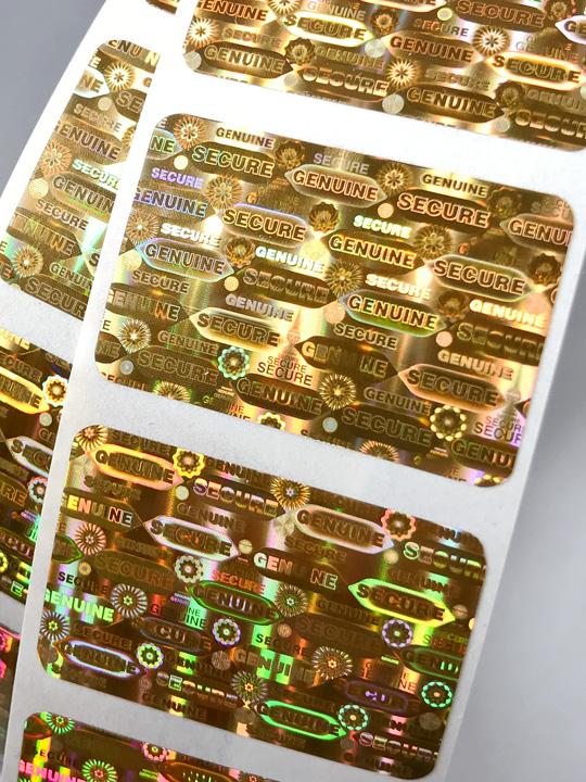 Hologramm-Etiketten Gold 30x20mm