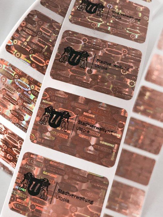 Hologramm-Etiketten Kupfer 30x20mm