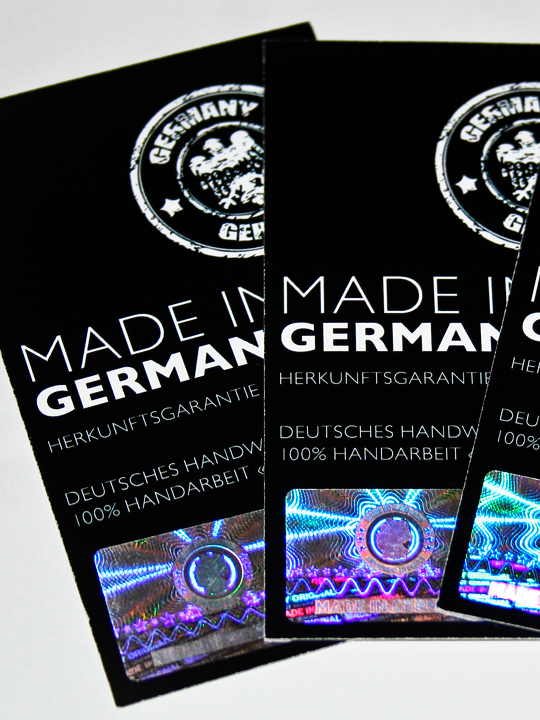 Hologramme – «MADE IN GERMANY»