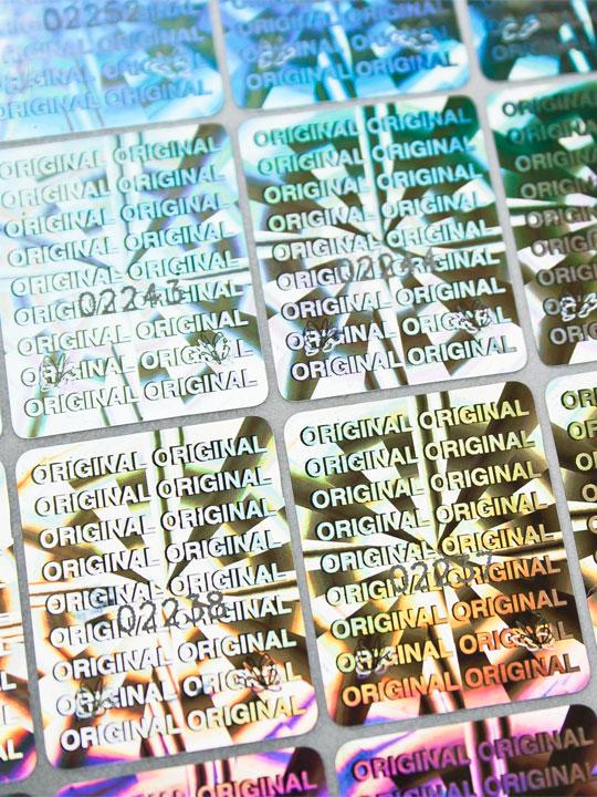 Hologramm-Etiketten Original