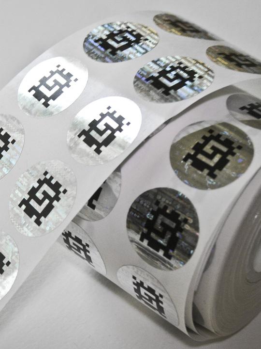 Hologramm-Etiketten bedruckt