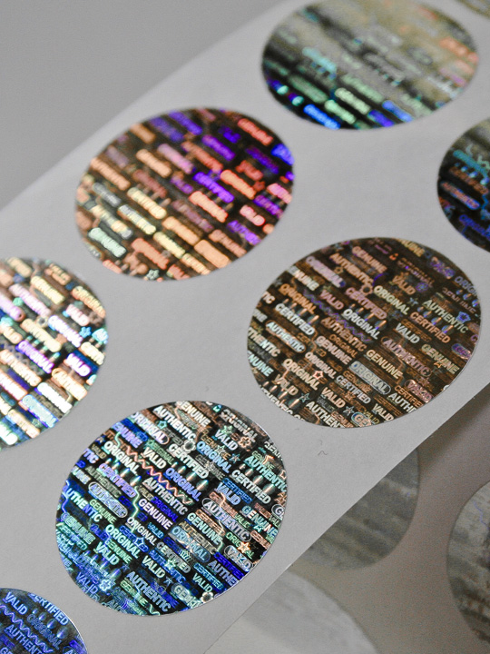 Hologramm-Etiketten