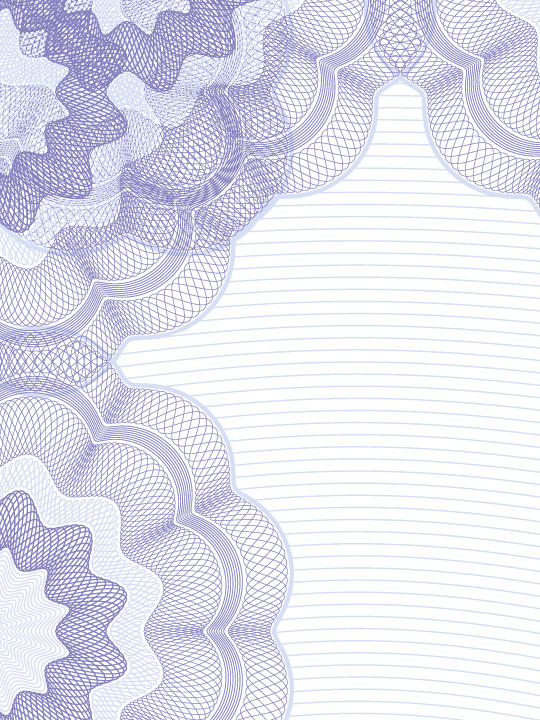 Wertschriftenvordruck violet