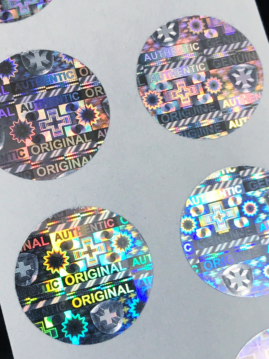 Hologramm-Etiketten SWISS